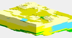 RockWorks software: Lithology Model in RockPlot3D