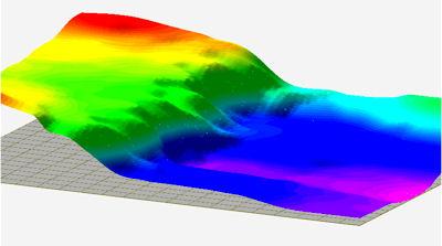 RockWorks - Unfaulted Surface in 3D