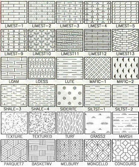 100 hatch patterns rockware for Wood floor hatch autocad
