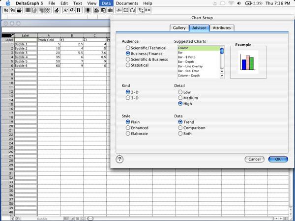 DeltaGraph Chart Advisor